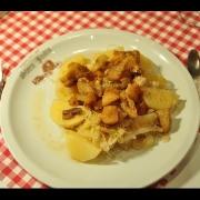 Kompir va kapuznice z ocvirki (domaća jela Istre i Kvarnera)